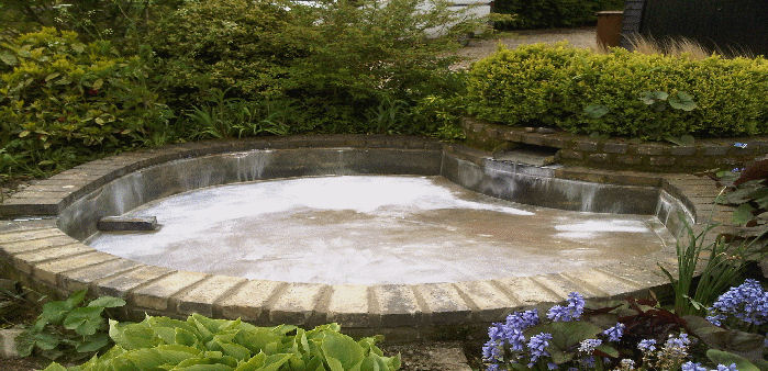 moisture sealed pond with impermax liquid pond liner