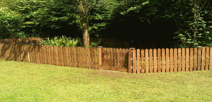 new fencing installed