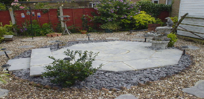a low maintenance patio